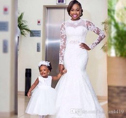 new africa wedding dresses NZ - South Africa 2018 New Plus Size Wedding Dresses Sheer Jewel Neck Long Illusion Sleeve Lace Appliques Bridal Gown Wedding Dress