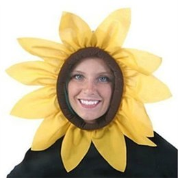 Head days online shopping - International Children Day Performing Props Cap Gift Funny Color Simulation Sunflower Head Cover For Kids Originality Interactive Toy ed W