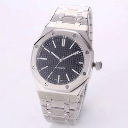 f614927f42d aaa luxo mens relógios 42mm cinta de aço inoxidável completo relógio de  ouro automático luminosa relógio