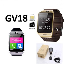 Smart Watch Wearable Aplus Gv18 Australia - GV18 NFC Aplus smart watches with Camera Square Touch Screen Smartwatch Phone with SIM Card Slot smart watch for IOS Android free DHL.