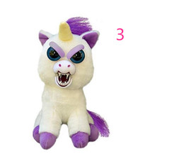 ty plush toys wholesale UK - DHL Feisty Pets One second Change face Animals 20CM 8 Inch Plush toys cartoon TY monkey bear unicorn Stuffed Animals baby Christmas gift