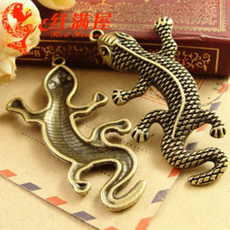 $enCountryForm.capitalKeyWord Canada - A3806 31*60MM Antique Bronze The big Lizard charms for bracelet, Pendant for necklace alloy jewelry making wholesale factory outlets