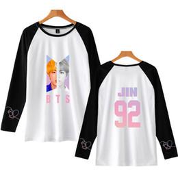 7171353b8dc BTS Ralgan Kawaii Casual Harajuku T-shirts Women And Men Clothes 2018 Hot  Sale Long Sleeve TShirt Print Kpop Tops Tees Plus Size
