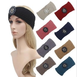 Hair jewels online shopping - Fashion Ladies Jewel Hair Accessory Women Winter Warm Turban Headband Crochet Headwrap Girl Knit Beanie Colors