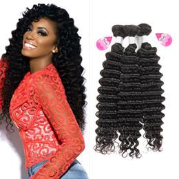 $enCountryForm.capitalKeyWord NZ - 10A Unprocessed Brazilian Virgin Bundles Deep Wave Curly Hair Weft Human Hair Peruvian Indian Malaysian Hair Extensions Dyeable High Quality