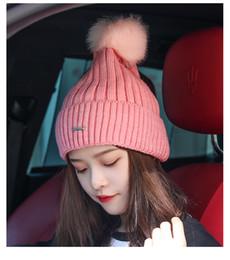 e1997edee6 Woollen hat winter hat female winter fashion cute Korean version of fashion  sweet autumn winter knitted warm ear protection