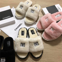 Booties heels for women online shopping - AAA Women s Furry Slippers Ladies Cute Plush Real Fox Fur Fluffy Slippers Women s Fur Winter Warm Slippers for Women Hffy plain slides feath