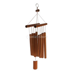 Plastic wind chime online shopping - Fashion Bamboo Raft Decor Windchimes Wind Chime Bamboo Tubes Hanging Ornament Garden Home