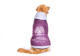 purple dog jacket NZ - Large Dog Big Dog clothes Purple Warm Cotton-padded Two Feet Clothes Thicken Hoodie coat jacket Dog Clothes