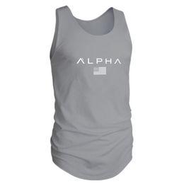$enCountryForm.capitalKeyWord Australia - Sleeveless Gym T Shirt Men Running Shirt Summer Vest Cotton Breathable Mens Tank Top Gym Workout Fitness T-Shirt Sport
