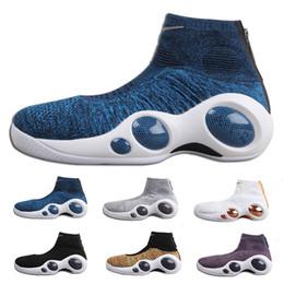 ef475fce245 Air Zoom Bonafide Tênis de corrida de Corrida de Vôo dos homens Bonafide SE  Jason Kidd Multi-cor Sapatos Vachetta Tan Legal Cinza Botas 40-45