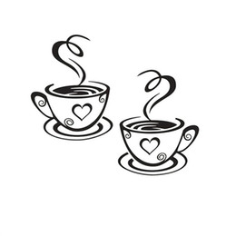 A Pair Of Coffee Cup Wall Stickers Carved Foreign Trade Europe And The United States Rumors Wallpaper Shop Poster Paintings