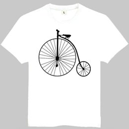 171ee4adc Old bicycle t shirt First bike short sleeve gown Cool tees Casual printing  clothing Quality cotton Tshirt