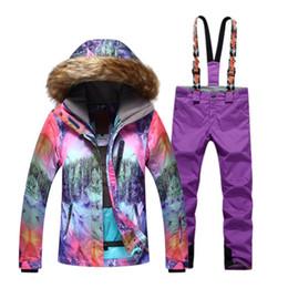 $enCountryForm.capitalKeyWord NZ - Women Snow clothing outdoor sports Snowboarding suit set Waterproof windproof Winter Mountaineering Ski Hair hat jacket and pant