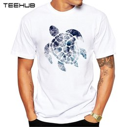 popular t shirt designs 2019 - 2018 TEEHUB Summer Men's Fashion Ocean Sea Turtle Printed T-Shirt Short Sleeve Popular Design Tops Novelty Tee chea
