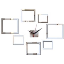 Antique Wall Light Europe UK - 2018 New Real Wall Clock Acrylic Mirror 3d Stickers Diy Clocks Quartz Watch Reloj Pared Large Decorative Horloge Free Shipping