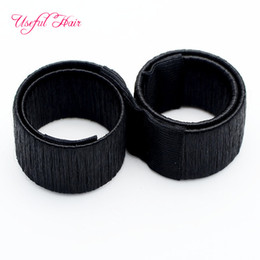 China high quality blonde BUN MAKER CURLY Circle HAIR ACCESSORIES French Hair Ties Girl Hair Styling Donut Former Foam Twist Magic Tools Bun Maker cheap foam bun accessory suppliers