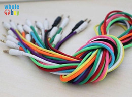 $enCountryForm.capitalKeyWord Australia - Colorful 3.5mm Braided Woven Male to Male MM Audio AUX Cable Stereo Auxiliary Cord For Iphone Car for iphoneX 8 7 6s 6 For Phone