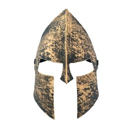 Gold Full Face Mask NZ - Vintage Spartan Warrior Mask Knight Hero Venetian Masquerade Full Face Masks for Halloween Decoration Supplies W7428