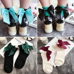 Wholesale 2018 New Spring Summer Women Fashion Cute Bow Knot Socks Creative College Style Socks Girls Tutu Socks