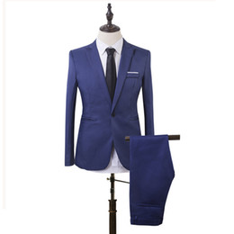 slim fit suits for prom Canada - 2018 Black White Men Suits Business Slim Fit Formal Wedding Suits For Men Custom Made Bridegroom Groom Best Men Prom Blazer Jacket+Pants