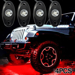 Car Led Glow Lights Canada - China under led Suppliers 4pcs OFF Road Ultra Bright Red Car LED Under Body Glow Rock Light for JEEP ATV