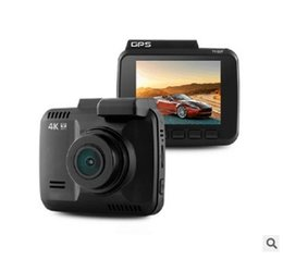 Gps Hd Australia - 4 K Driving Recorder with GPS, Dual Lens HD Night Vision Mirror WIFI car Recorder 2.4 inch LCD screen with out memory card free shipping