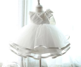 $enCountryForm.capitalKeyWord UK - retail 2018 Newborn baby Baptism Dress Christening Gown Girls' party Infant Princess wedding dress baby clothing sleeveless veil Tutu dress