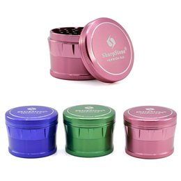 HigH quality aluminum online shopping - SharpStone Drum Grinder mm Inches Herb Grinders Layers Super High Quality Aluminum Metal Grinder Colors Available