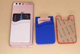 Price mobile Phone case online shopping - Best Factory Price Phone Card Holder Silicone Mobile Card Holder M Sticky Silicone Mobile phone case with credit business card holder stand