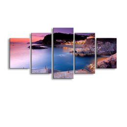 $enCountryForm.capitalKeyWord Australia - 5 pieces high-definition print landscape canvas painting poster and wall art living room picture PL5-245