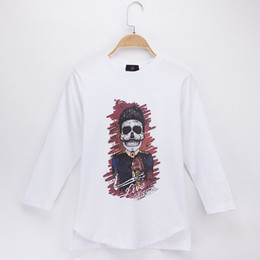 $enCountryForm.capitalKeyWord Canada - 2018 New Children T-shirt Skull Skeleton Zombies Print Full 100% Cotton White O-Neck Boys Long T Shirts Baby Girl Tops Tees Child Shirt