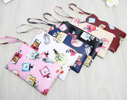 Ladies Perfume Wholesale Canada - Lady Coin Purse perfume Pattern Women Accessories Clutch Wallets For Phone Coin Change Bag
