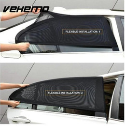 Sun Side online shopping - 2Pcs Car Window Cover Sunshade Curtain UV Protection Shield Sun Shade Visor Mesh Solar Mosquito Dust Protection Car covers New