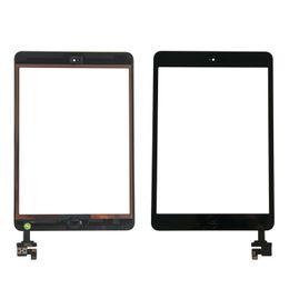 Envío gratis por dhl o ems 100% completado para iPad mini 1 mini 2 Pantalla digitalizadora táctil con botón de inicio IC Flex Cable