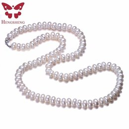 $enCountryForm.capitalKeyWord Australia - Hengsheng Real White Natural Freshwater Pearl Women Necklace,8-9mm Beads Jewelry Necklace,60cm Length Necklace Fashion Jewelry C18111901