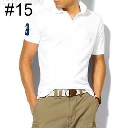 $enCountryForm.capitalKeyWord NZ - New Brand Men's Big Horse Embroidery Polo Shirt For Men luxury Polo Men Cotton Short Sleeve shirt jerseys bodybuilding fitness men Plus Size