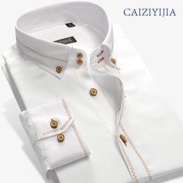 Shirt brandS china online shopping - CAIZIYIJIA Mens England Brand Clohting Silm fit Long Sleeve Dress Shirts High Quality Cotton Imported china Camisa Masculina