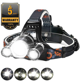 bright rechargeable headlamps NZ - 5000LM Super-bright T6 XM-L 3 LED Headlamp Rechargeable USB Head Flashlight Forehead Lamp Fishing Camping Headlight with Battery Free DHL