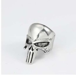 punk rings UK - Skull Ring For Men Jewelry Vintage Steampunk Halloween Gifts Hollow Skulls Punk Rings Of Anime Hip Hop Ring Finger Dropshipping