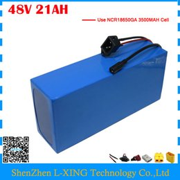 Discount used electric scooter - High quality 48V 21AH electric bike battery 48V 21AH scooter lithium battery 48V PVC Akku use NCR18650GA 3500mah cell 50