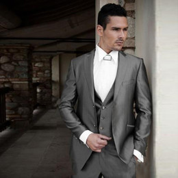 $enCountryForm.capitalKeyWord Canada - Italy Style Sliver Grey Men Suits for Wedding Online Groom Tuxedos Vintage Groomsmen Blazer 3 Pieces Two Buttons Slim Fit Terno Masculino