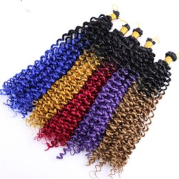 $enCountryForm.capitalKeyWord Australia - 14inch Bohemian Kinky Twist Crochet Braids Hair Extension Freetress Deep Wave Curly Crochet Twist Synthetic Water Wave Braiding Hair