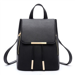 c389fd96a343 Backpack School Bag Student Backpack Women Travel Bag with Golden Metal  Zipper