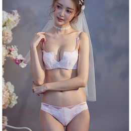 dd1fb3eeca354 Japanese bra underwear girl online shopping - Half cup deep v neck lace  girls small underwear