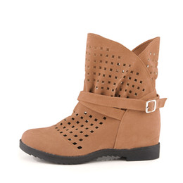 $enCountryForm.capitalKeyWord UK - Plus Size Ankle Boots for Women Increasing Heel Boot Platform Cut Out Booties Female Casual Shoes Buckle Strap Botas