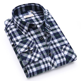 Wholesale plus size flannel shirts online – New Men s Shirt Spring Autumn New Male Long Sleeve Flannel Plaid Shirt Brand Men Office Style Business Casual Shirts Asian Size Plus Size