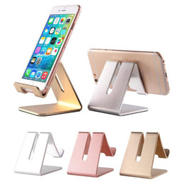 Portable brackets online shopping - Aluminum phone stand holder portable mini universal bracket cellphone lazy mounts for iphone samsung huawei p20 lite mate in home office