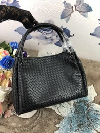 8fba4e9436a Handmade Leather Tote Bags Australia - 2018 women fashion handmade material  crochet handbag classic genuine sheep