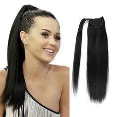 cheveux human hair 2021 - Ponytail Human Hairpiece Drawstring Ponytail Extensions Tail Postiche Queue De Cheval En Cheveux Humains 100g-160g Factory Outlet 1B